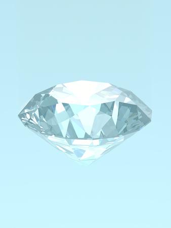 Diamanten auf blauem isoliert 3D-Modell