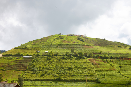 travel location: Beautiful natural in Mon Cham (Mon Jam) mountain, Mae Rim, famous travel location in chiangmai, Thailand. Stock Photo