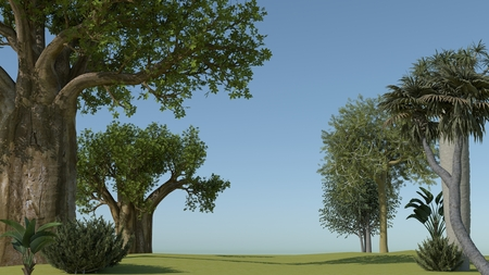 greatness: beautiful landscape 3d rendering photo