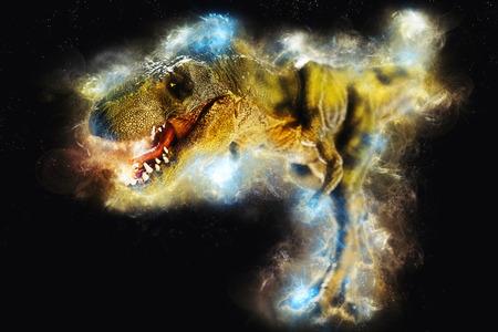 dinosaur on effect  background Stock Photo