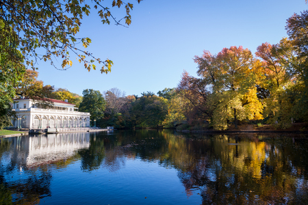 Prospect Park in New York City during Autumn Editorial