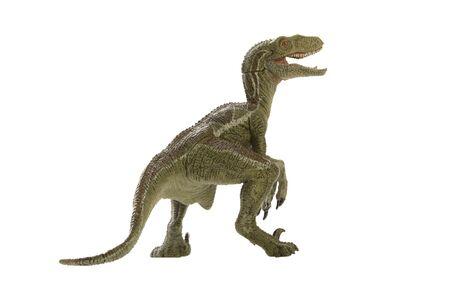 tir dinosaure sur fond blanc Banque d'images