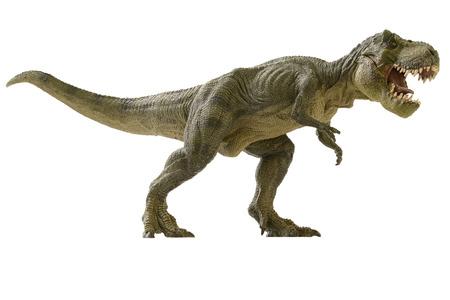 shooting dinosaur on white background