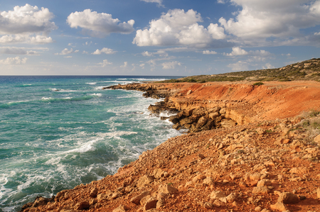 Beautiful seascape. Composition of nature. Cyprus