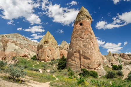 Panoramic view of Cappadocia - Turkey. Red valley