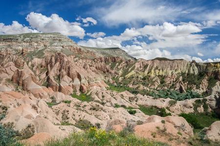 fantastical: Panoramic rural view of Cappadocia - Turkey. Red Valley