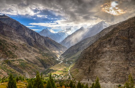 Dramatic landscape in Himalaya mountains