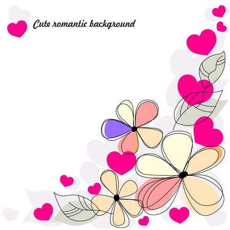 cute romantic background Stock Vector - 17525809