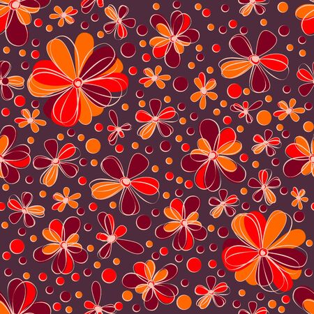 retro seamless flowers Stock Vector - 18403903