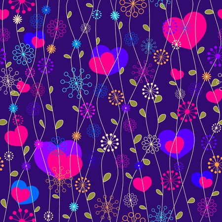 seamless romantic floral background Vector