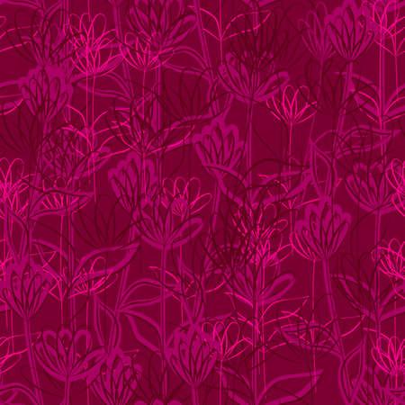 seamless flowers Stock Vector - 18709269