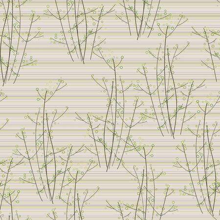 seamless trees on striped background Vector