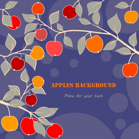 apples background Vector