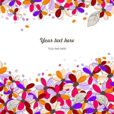 colorful seamless floral background Vector
