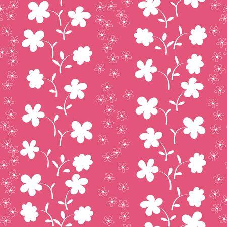 simple flower: cute seamless flowers