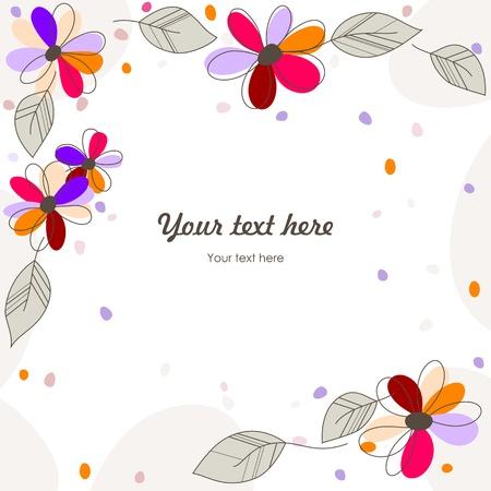 winder: cute floral card Illustration