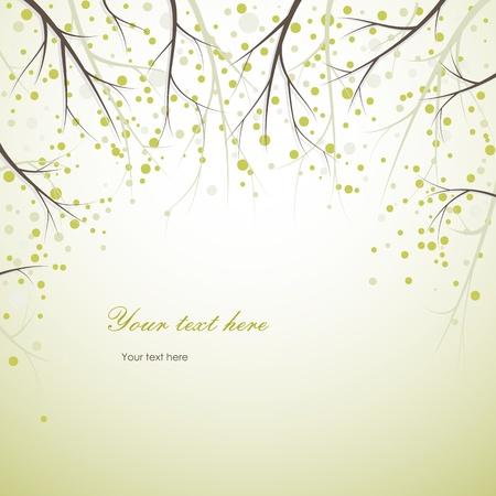 příroda: jarní větve na pozadí