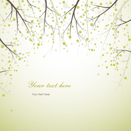 greeting card background: spring tree branches background Illustration