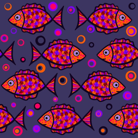 bright seamless fish Vector