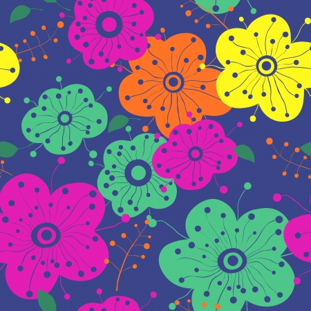 bright seamless flowers Vector