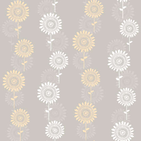 seamless abstract sunflowers Vector