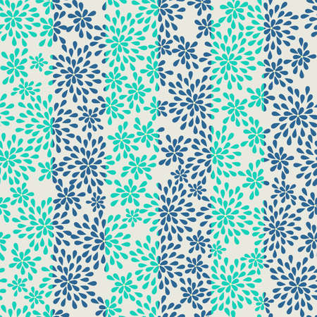 seamless striped pattern from abstract flowers Stock Vector - 20897852