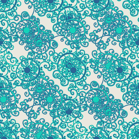 seamless curly pattern in the asian style Illustration