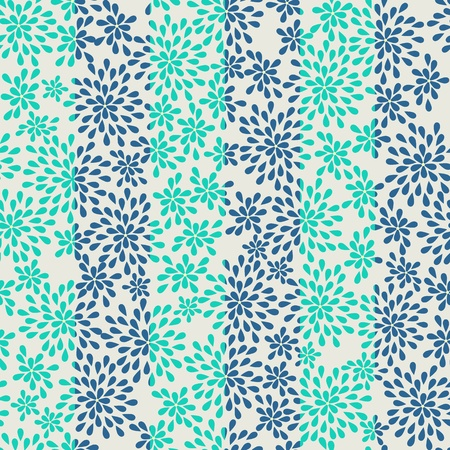 seamless striped pattern from abstract flowers