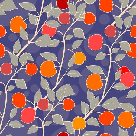 seamless apples Vector