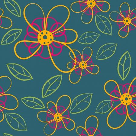seamless flowers Stock Vector - 21262210