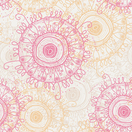 abstract seamless floral pattern Illustration