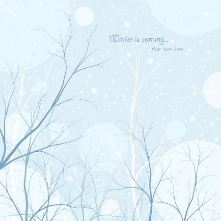winter trees background Illustration