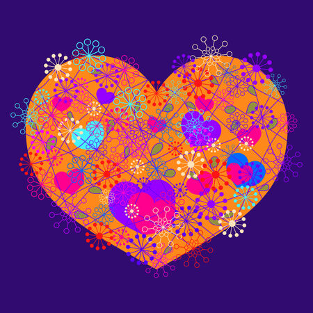 hearts background Stock Vector - 24251561