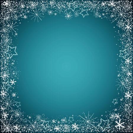 snowflake border: christmas snowflakes border