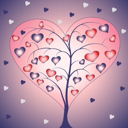 heart shaped tree Vector