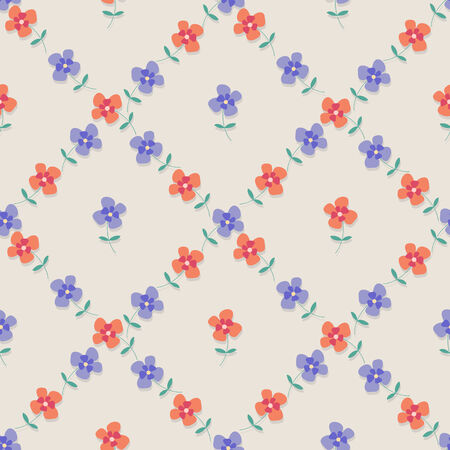 seamless check from flowers Vector
