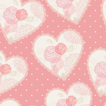 seamless floral hearts Illustration