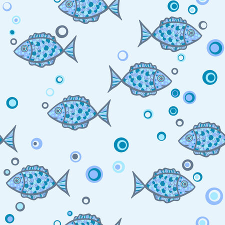seamless fish Vector