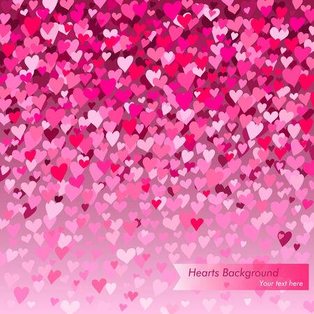 hearts background Illustration