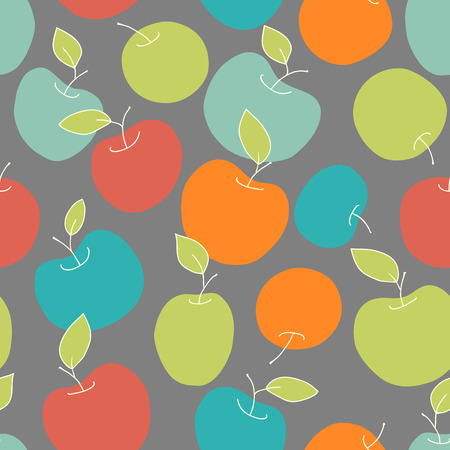 colorful seamless apples Illustration