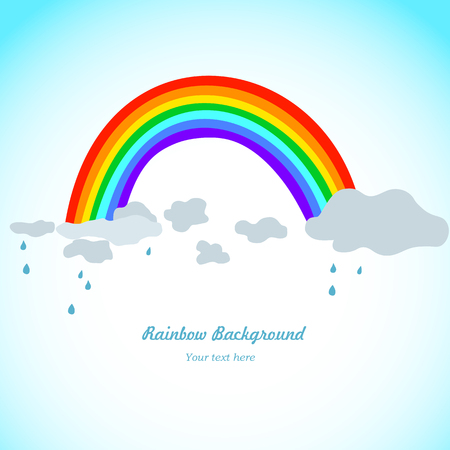 clowds: rainbow, rain and clowds background