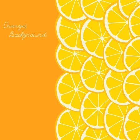Oranges background Illustration