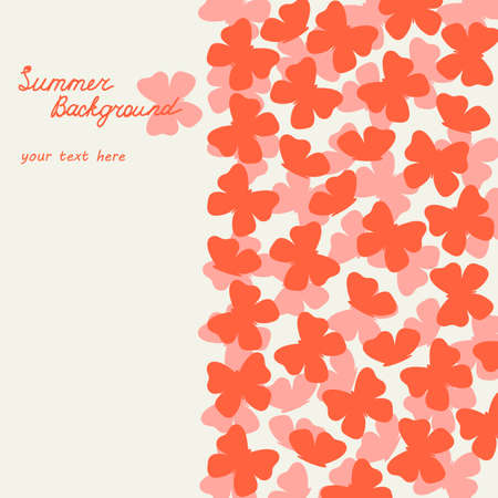Cute summer background with butterflies Illustration