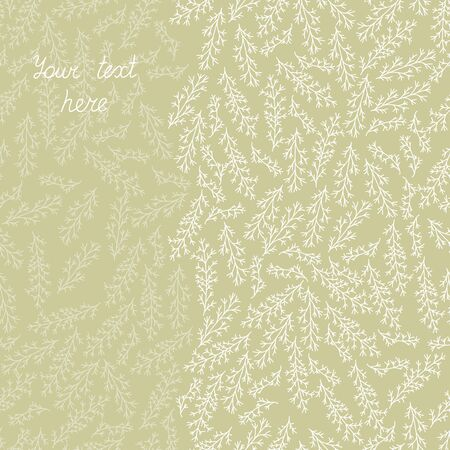 Floral background with doodle branches