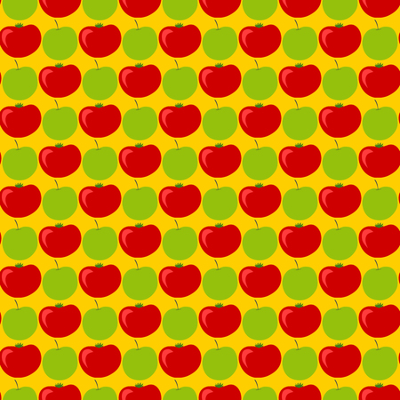 Seamless pattern with apples and tomatoes Illustration