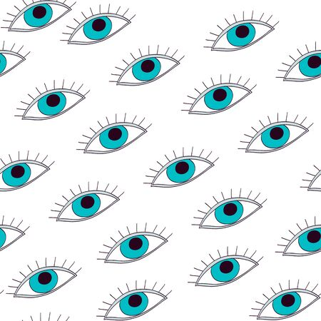 tile: seamless pattern with eyes