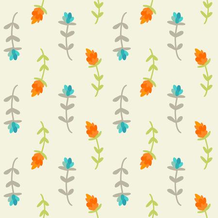 tile: Seamless floral pattern Vector illustration.