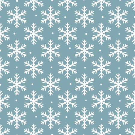 Seamless Christmas pattern with snowflakes