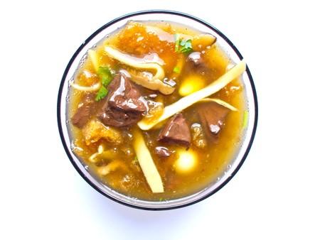 maw: dried fish maw ,Thai noodles Stock Photo