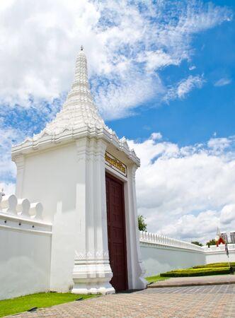 portcullis: door or portcullis of wat phra kaew temple  ,Thailand Stock Photo